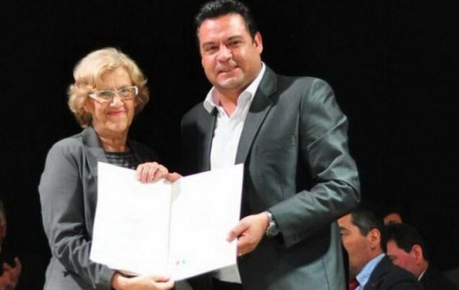 Alcaldes de Madrid y La Paz firman un convenio de cooperación
