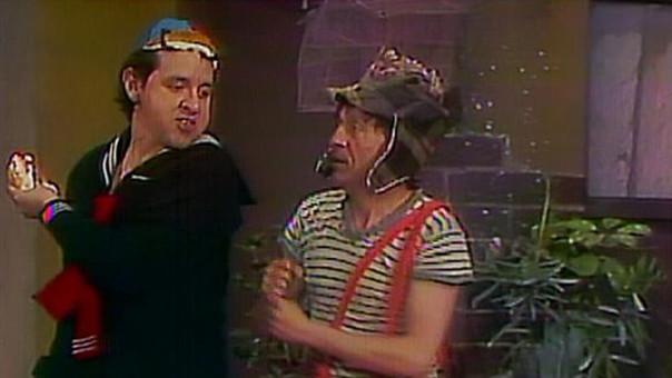 Los dos personajes discuten por una torta de jamón.