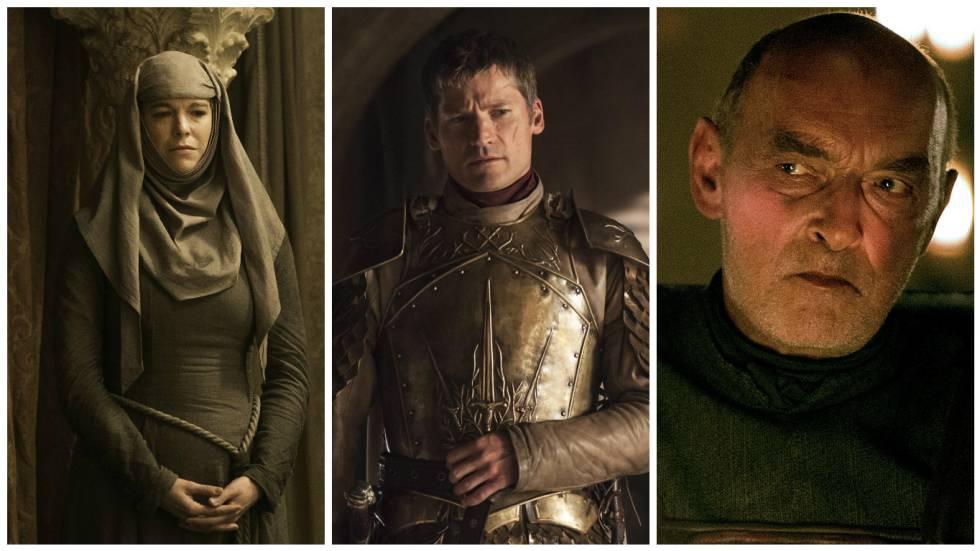 Septa Unella, Jaime Lannister y Randyll Tarly.