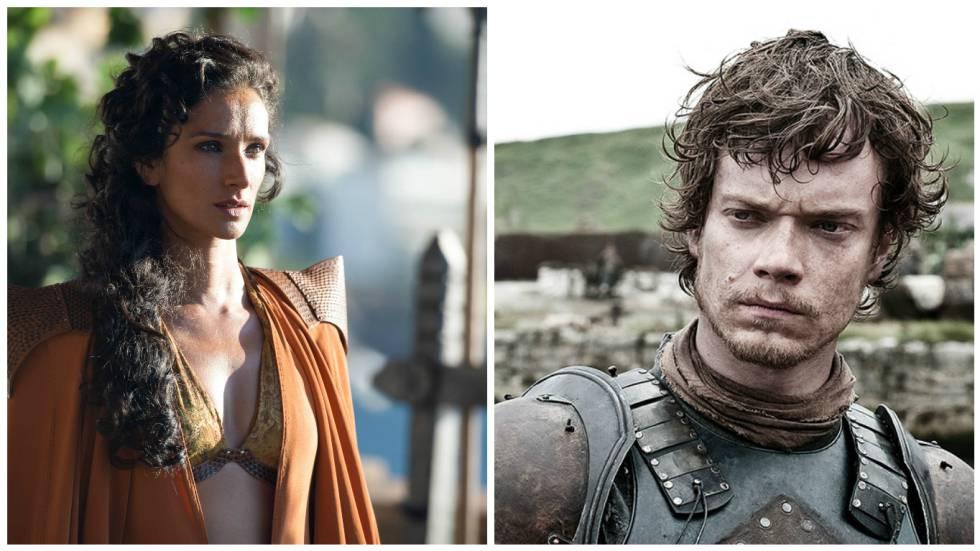 Ellaria Sand y Theon Greyjoy.