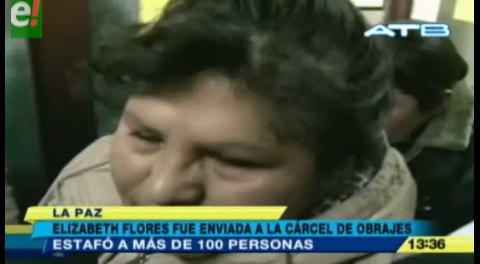 La Paz. Cae una mujer denunciada por estafar a más de 100 personas