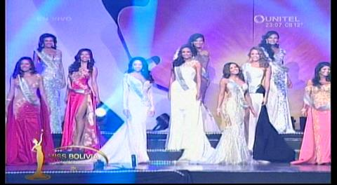 Miss Bolivia Universo 2016: Presentación en traje de gala
