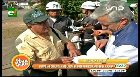 Ciudadano denuncia ante García Linera irregularidades en la Aduana