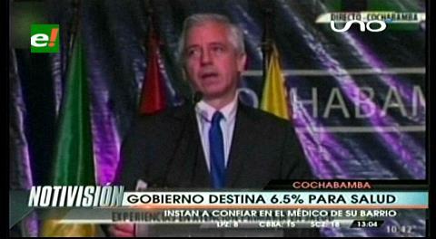 Gobierno afirma que destina el 6.5% para la salud