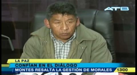 Senador Montes pide a la COB retomar el diálogo con el Gobierno