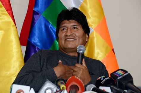 El presidente Evo Morales durante una conferencia de prensa ayer en la residencia presidencia. Foto: ABI