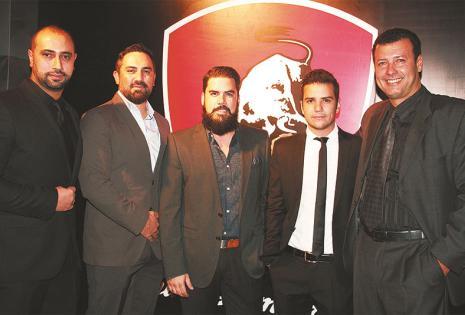 INVITADOS. Carlos Quiroga, Sergio Rahib, Javier Pita, Juan Pablo Canedo y 'Tito' Orellana, presentes en el cóctel de lanzamiento
