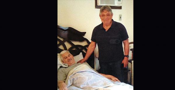 El expresidente Jaime Paz visitó el miércoles a Gary Prado