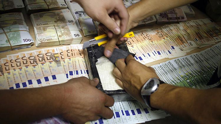 Dinero confiscado por la policía en Madrid en Enero de 2011