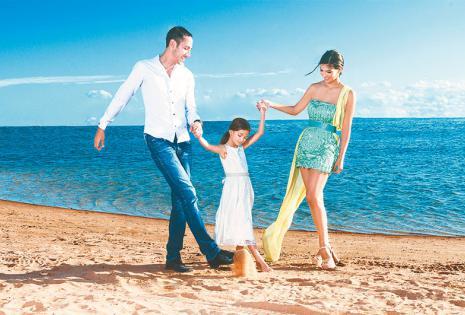 Unión y amor. Mauricio, Camila Y Carolina son una familia