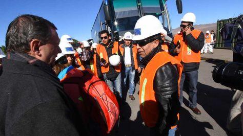 El canciller de David Choquehuanca y la comitiva boliviana llegan a Puerto de Achuelo en Antofagasta-Chile. Foto: APG