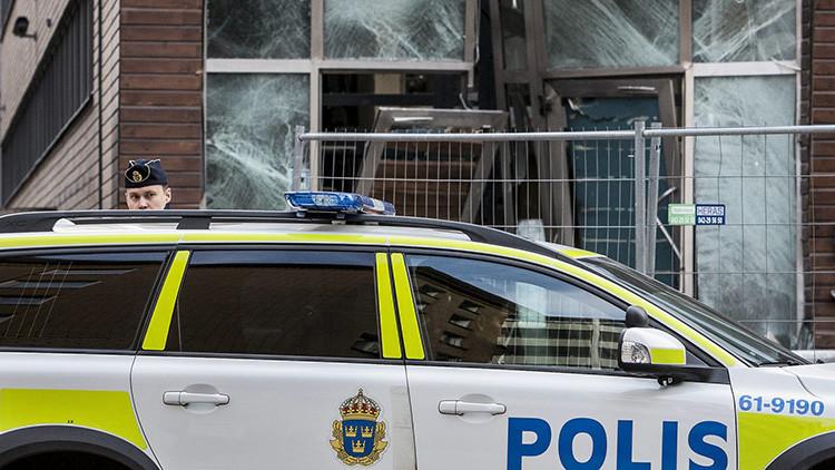 Un  policía de la ciudad sueca de Malmo.