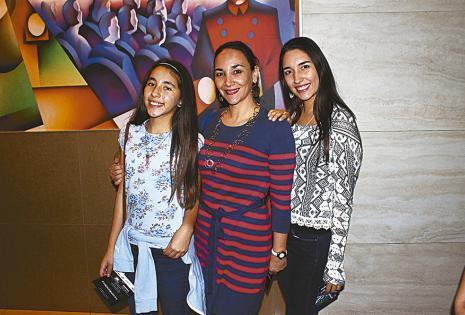 Sofía Rodríguez, Zeina Chequer y Ana Camila Rodríguez
