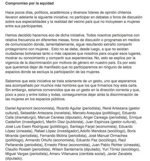 Carta de +hombres+