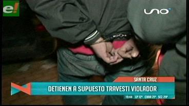 Detienen a supuesto travesti violador