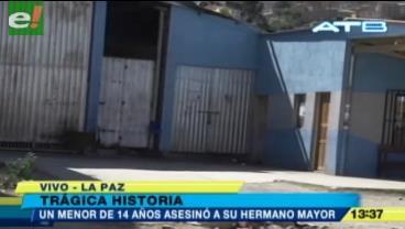 Un joven de 15 años fue asesinado por su hermano de 14