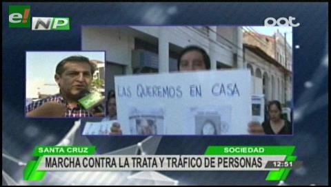 """Marcha contra la """"trata y tráfico"""" de personas"""