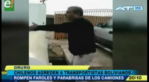 Chilenos agredieron a transportistas bolivianos