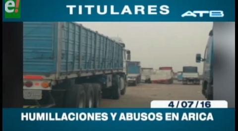 Titulares de TV: Transportistas bolivianos denuncian humillaciones y abusos en Arica