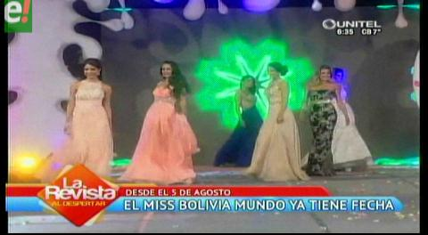 Miss Bolivia Mundo 2016 se realizará en agosto