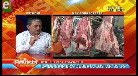 """""""La carne de primera debería costar Bs. 25"""""""