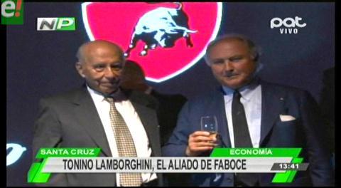 Tonino Lamborghini lanzó su exclusiva marca en Bolivia