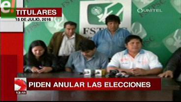 Titulares de TV: Sectores sociales exigen auditoría a la CEP de la Uagrm