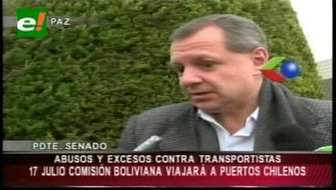 Comisión prevé viajar el 17 de julio a puertos chilenos para verificar trato a transportistas