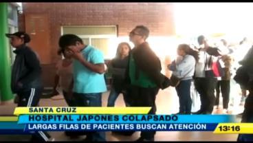 Colapsa de pacientes el Hospital Japonés de Santa Cruz