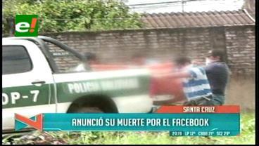 Adolescente publicó en su Facebook que se suicidaría