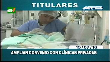 Titulares de TV: Gobierno amplía convenio con clínicas privadas para la atención en Neonatología