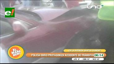 Policía ebrio ocasionó un grave accidente de tránsito