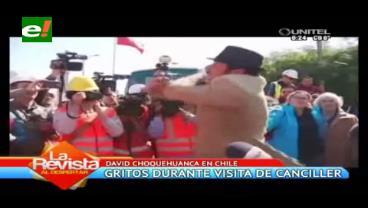 Chileno le grita a David Choquehuanca que Bolivia nunca tendrá mar