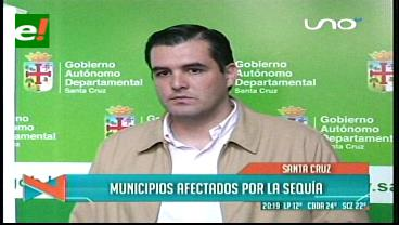 Gobernación cruceña brinda apoyo a municipios en emergencia por la sequía