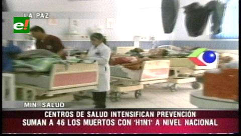 Suben a 46 los fallecidos por gripe AH1N1 en lo que va del año