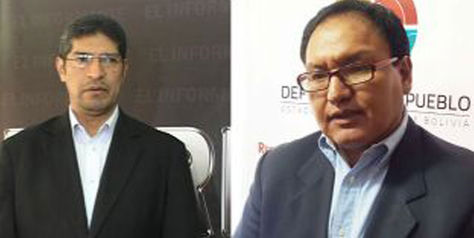 Edwin Martínez Tapia y José Miranda Quilo nuevas autoridades para Defensor del Pueblo en Chuquisaca y Potosí. Foto: defensoria.gob.bo