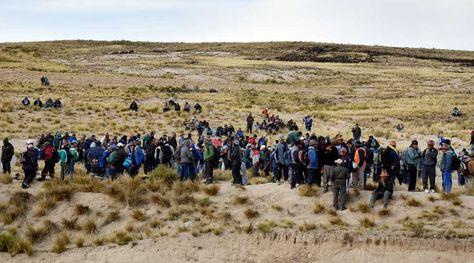 Bloqueo de mineros en Mantecani