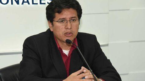 El presidente del Consejo de la Magistratura, Wilber Choque. Foto: Miguel Carrasco