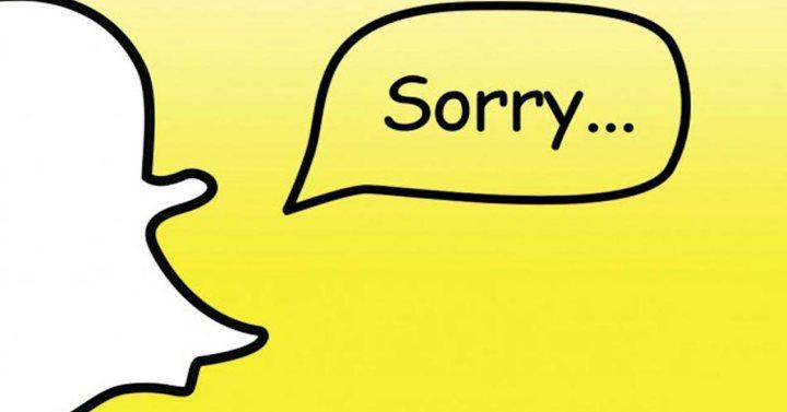 logo snapchat sorry