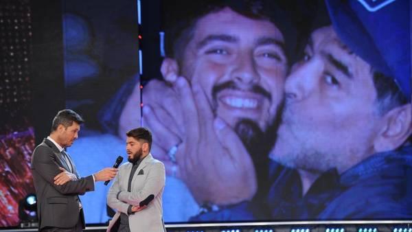 Marcelo Tinelli en una gran entrevista a Diego Maradona Jr.