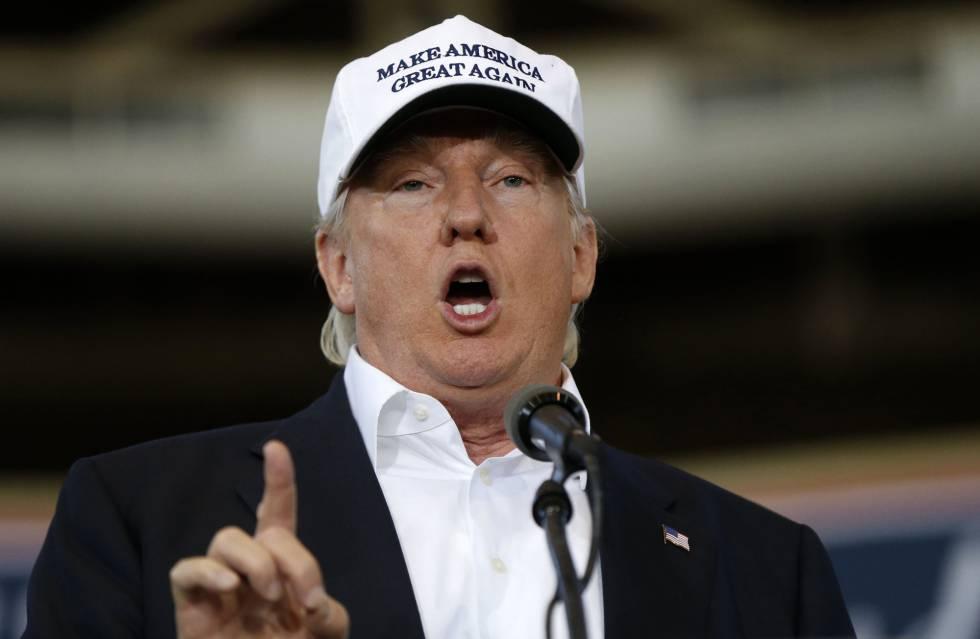 El candidato presidencial republicano, Donald Trump, en campaña