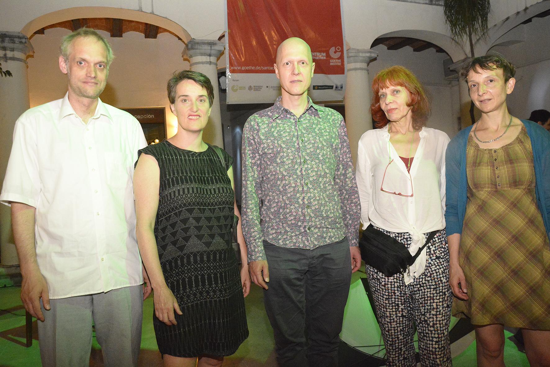 Ensamble Maulwerker. Henrik Kairies, Steffi Weismann, Christian Kesten, Katarina Rasinski y Ariane Jessulat.