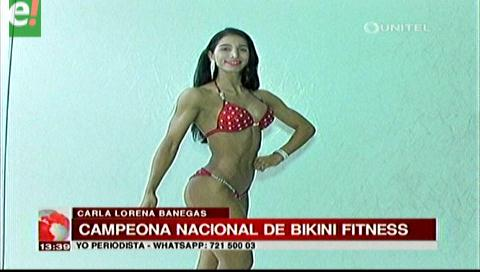 Carla Banegas campeona nacional de Bikini Fitness