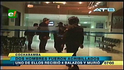 Cochabamba: Balearon a dos hombres en las puertas de un local