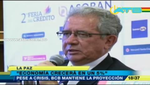 BCB: La economía de Bolivia subirá en un 5%