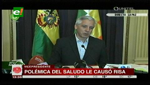 "Polémica del saludo de Evo le ""causa risa"" a García Linera"