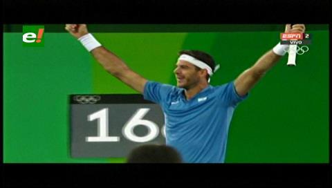 Del Potro se mete en semifinales y va por Nadal