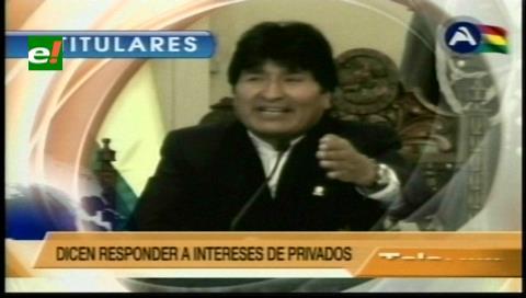 Titulares de TV: Evo dice que las demandas de los mineros cooperativistas son indeseables