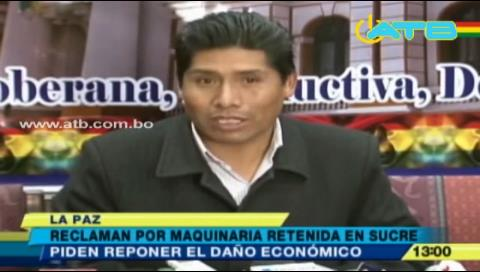 El MAS pide informe a Patzi por volqueta retenida en Sucre