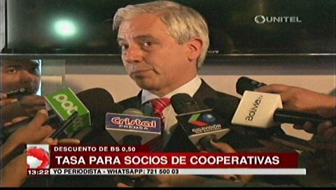 Vicepresidente: Socios de las cooperativas deben pagar según decreto